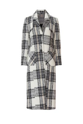 Grey Plaid Coat by NVLT