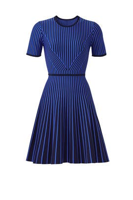 Knit Stripe Flare Dress by Shoshanna