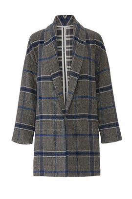 Grey Plaid Jacket by sita murt