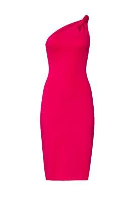 Pink One Shoulder Dress by Cushnie