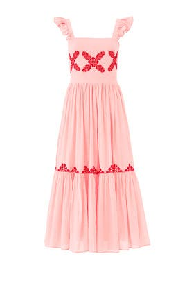 Pink Kuna Embroidered Maxi by CAROLINA K