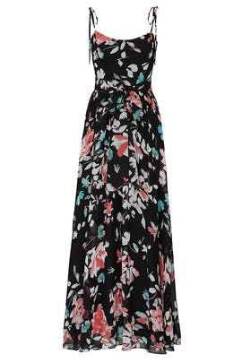 Hollie Black Floral Maxi by Dress The Population
