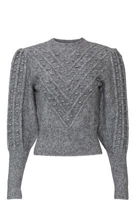 Grey Popcorn Sweater by The Kooples