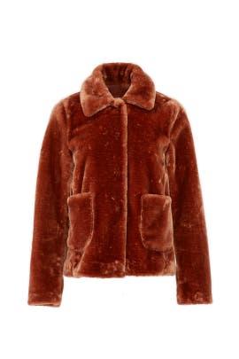 Spice Faux Fur Coat by La Vie Rebecca Taylor