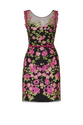 cea2d427 Pink Floral Embroidered Dress by Marchesa Notte