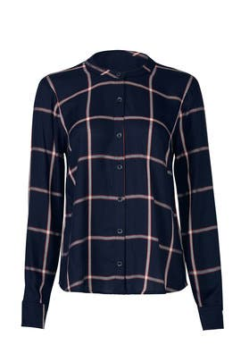 Navy Reily Plaid Shirt by Splendid