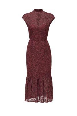 Purple Ruffle Flute Dress by Slate & Willow