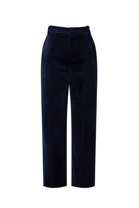 Velvet Cropped Trousers by VINCE.