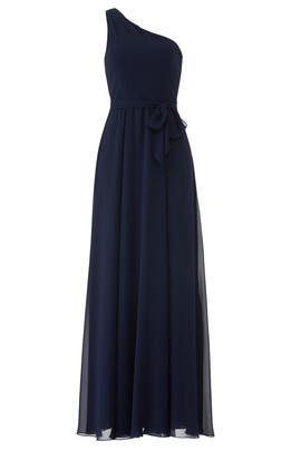Navy Laurie Gown by AMSALE