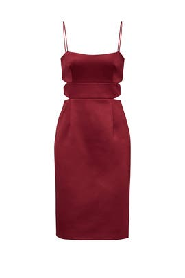 Burgundy Diamond Slash Dress by Cynthia Rowley