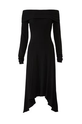 a17615889b89 Black Off Shoulder Dress by Derek Lam Collective