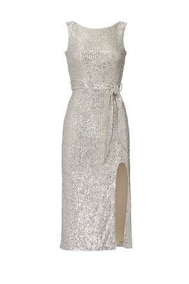 Silver Sequin Karlie Sheath by Dress The Population