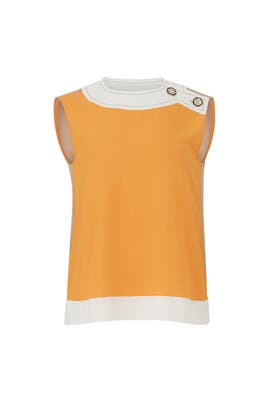 Buttoned Colorblock Top by Marni