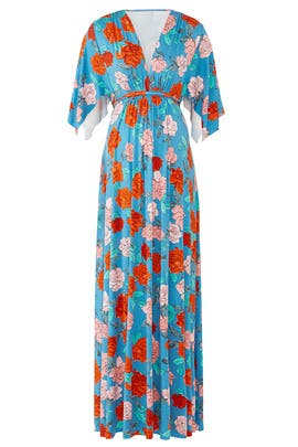 Blue Rose Maternity Maxi by Rachel Pally