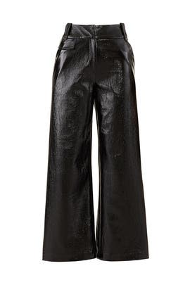 Handsome Lady Faux Leather Pants by Three Floor