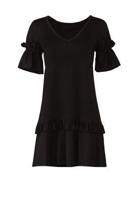 Black Ruffle Dress by byTiMo