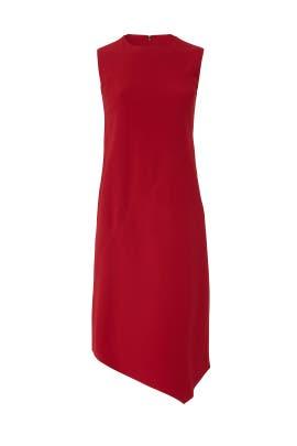 Scarlet Asymmetrical Dress by Victor Alfaro