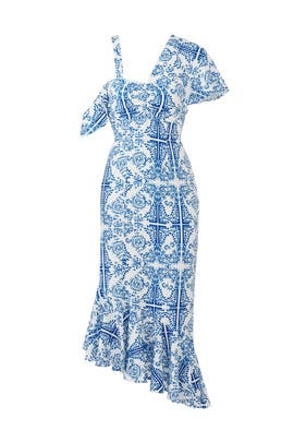 Blue Tile Tavi Dress by Viva Aviva