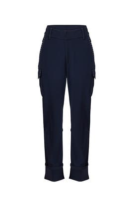 Navy Grommet Detail Pants by Derek Lam 10 Crosby