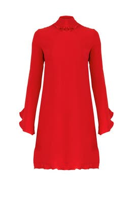 Crimson Open Back Dress by DEREK LAM
