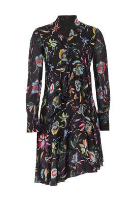 Black Jungle Flower Dress by Jason Wu