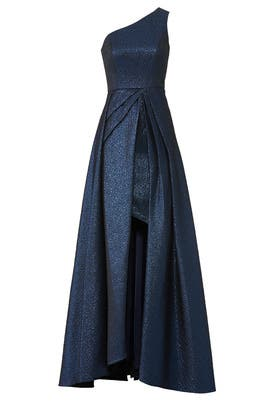 Navy Odyssey Gown by ML Monique Lhuillier