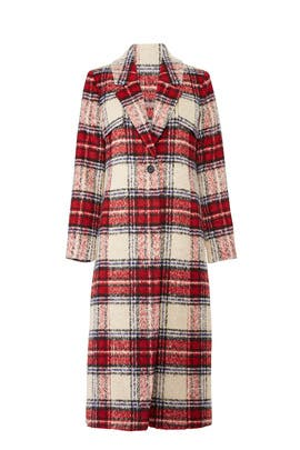 Red Plaid Coat by NVLT