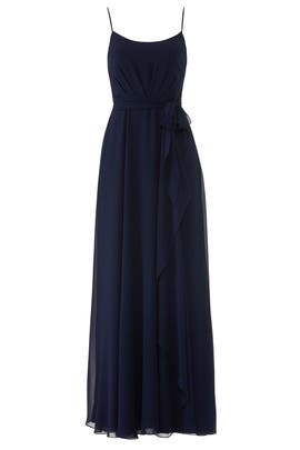 Navy Campbell Gown by AMSALE