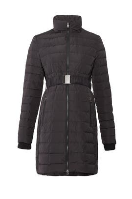 Woven Maternity Puffer Coat by A Pea in the Pod