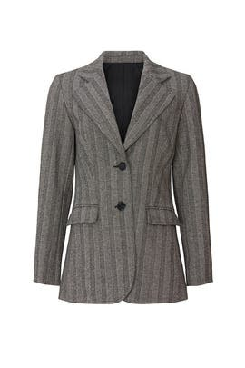 Grey Striped Suit Jacket by Derek Lam Collective