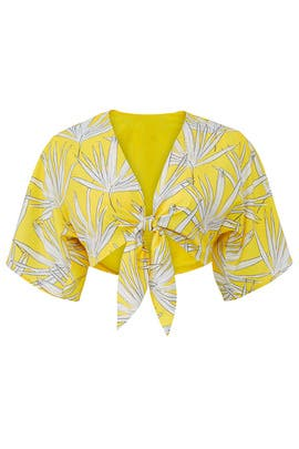 Yellow Leaf Crop Top by Hutch
