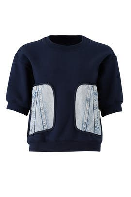 Denim Pocket Sweatshirt by Harvey Faircloth