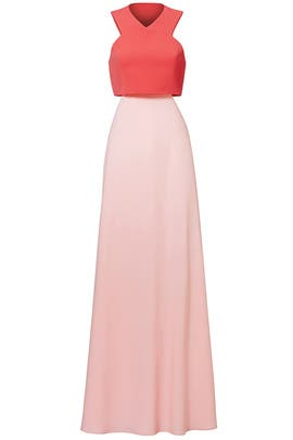 Pink Two-Toned Popover Gown by Jill Jill Stuart