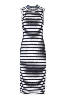 Black Stripe Knit Dress by Jason Wu