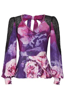 Floral Bow Back Top by Marchesa Notte