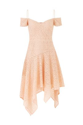 Lace Scarf Dress by Nicole Miller