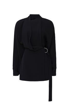 Black Long Sleeve Wrap Top by Proenza Schouler