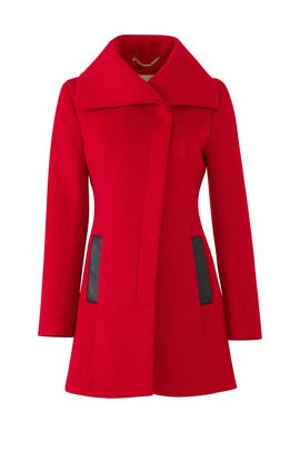 Red Jenna Coat by SOIA & KYO