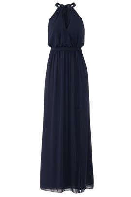 Navy Fleurette Gown by WATTERS