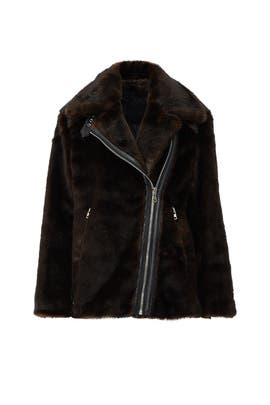 Oversized Faux Fur Moto Jacket by KENDALL + KYLIE