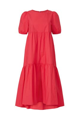 Puff Sleeve Tiered Dress by Peter Som Collective