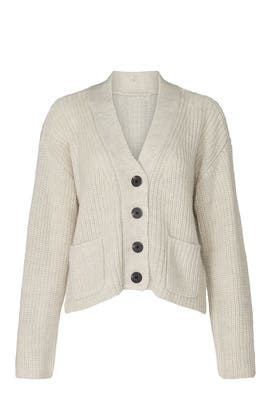 White Ribbed Cardigan by Scotch & Soda
