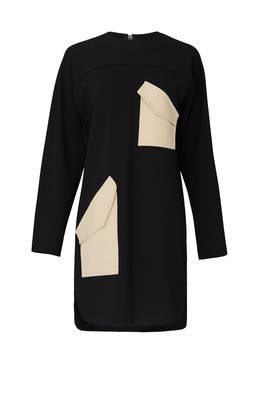 Bond Stretch Knit Patched Dress by Tibi