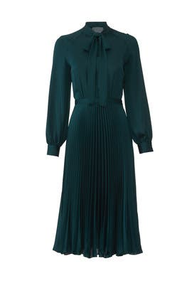 Teal Pleated Dress by Tara Jarmon