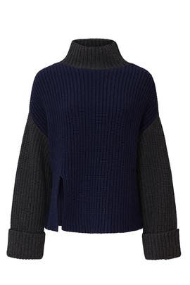 Colorblock Oversized Sweater by Victor Alfaro Collective