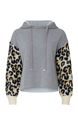 Leopard Sleeves Sweatshirt by Central Park West