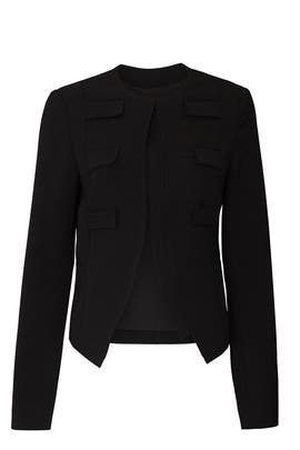Black Military Blazer by Derek Lam Collective