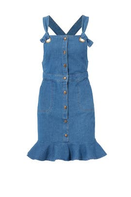 Denim Overall Dress by English Factory