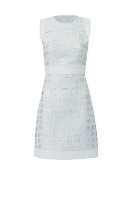Blue Embossed Dress by Genny
