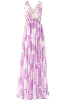 Lilac Disco Maxi Dress by HALSTON